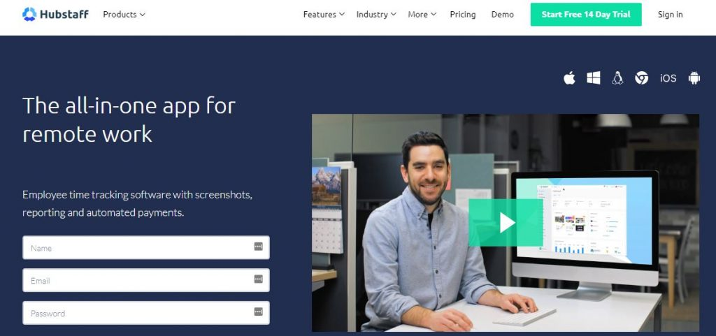Hubstaff Marketing Tool for Remote Work