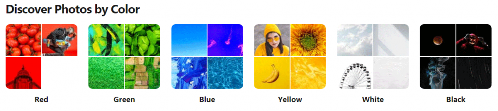 Pexels Discover Photos by Color