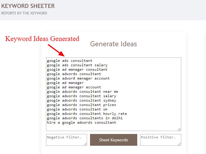 keyword sheeter 2